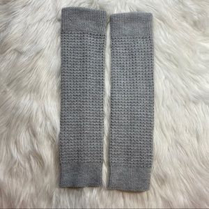 Boot socks leg warmers gray waffle knit